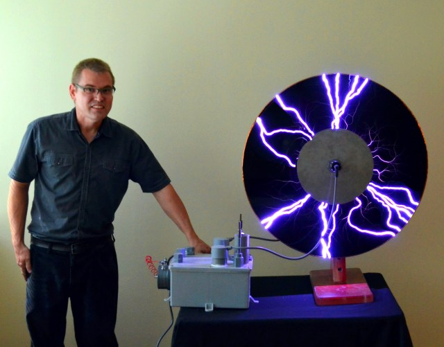 Jeff Behary and his Vintage Tesla Coil