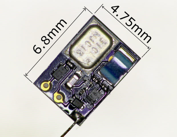 This is the finalized unit. It measures only 0.05 square inches.