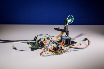 Early prototype of a tracking system that uses lasers. Similar to lighthouse, but different.