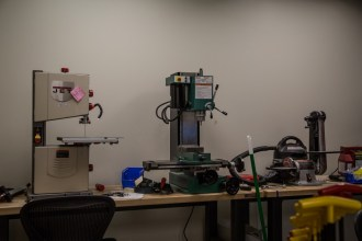 More tools. Yes, there's a tiny mill, band saw, and belt sander at Valve Software.