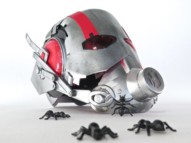 Making a Convincing Ant Man Helmet Out of Found Materials