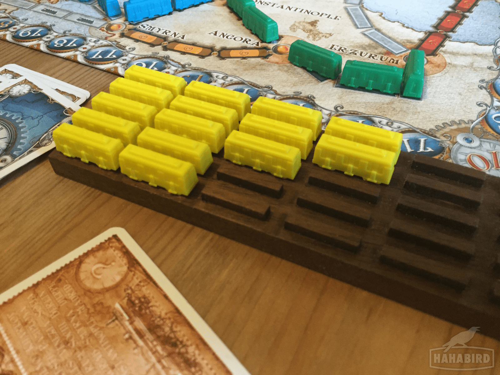 Making a Train Yard for Ticket to Ride
