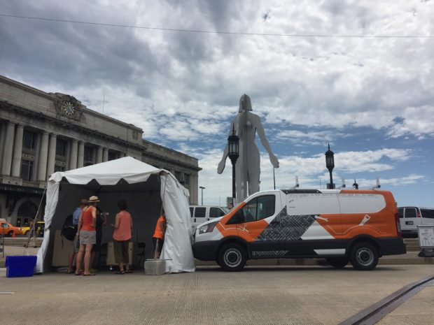 Open Works Mobile making its debut at Artscape 2016. We had over 1,000 visitors over three days! Image by Will Holman