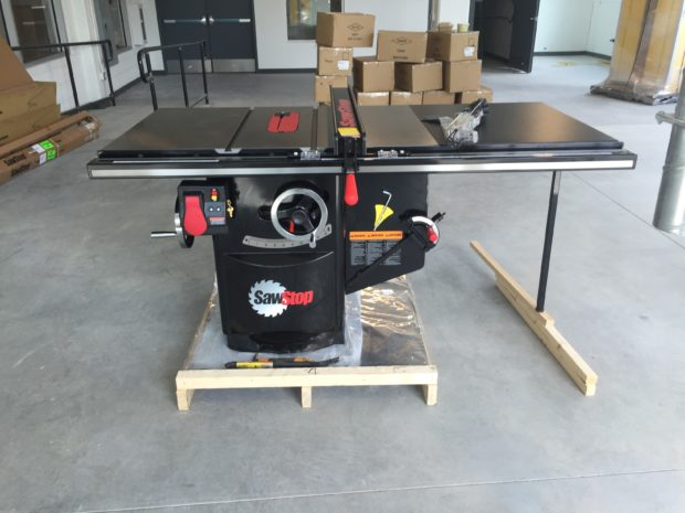 Our first table saw! Image by Will Holman