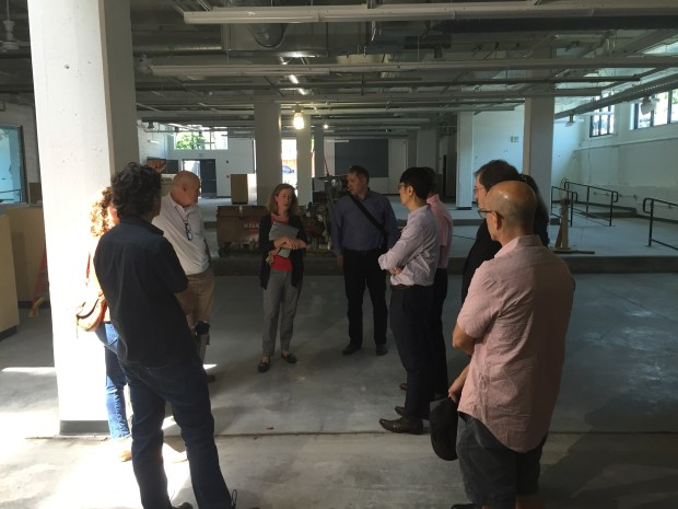 We hosted the leadership of Maryland Institute College of Art, including President Sammy Hoi (third from right) for a tour last week to discuss partnership possibilities. Photo by Will Holman