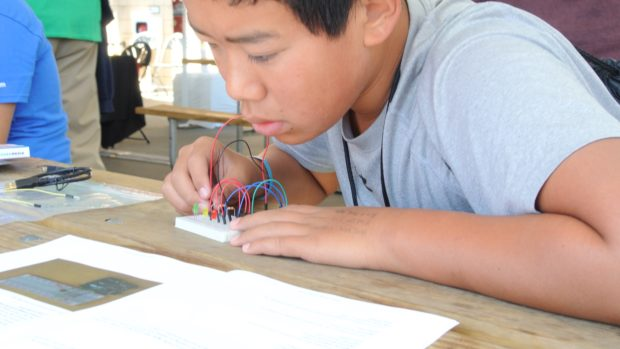 Breadboarding requires concentration.