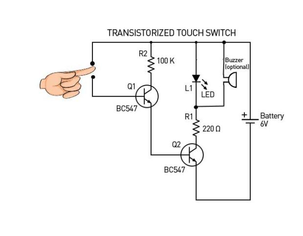 Transistorized-Touch-Switch