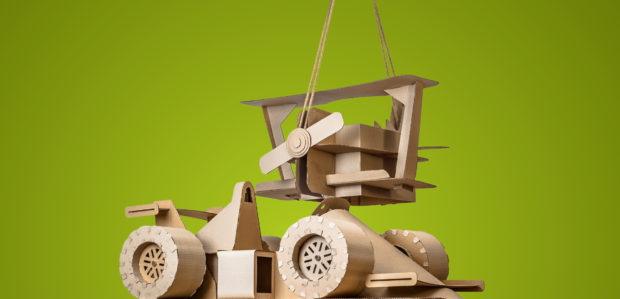 Macosh Design's latest creation are life size toys for kids made entirely out of cardboard. These are kid-sized toys made entirely out of cardboard.