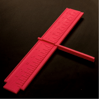 The full z-axis ruler with guide