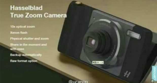 Leaked photo... Hasselblad is rumored to be releasing a camera-based Mod, complete with 10x optical zoom and Xenon flash.