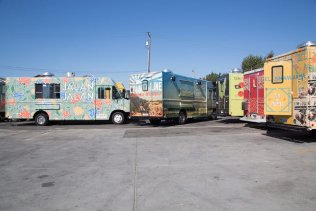 The Whole Cart operates a custom fleet of 25 food trucks that serve Bay Area corporate campuses. Photography by Hep Svadja