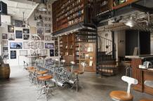 A cafe/bar/office/museum space developed for The Longnow Foundation