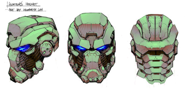 FIGURE 2-13: Hunter helmet concept art