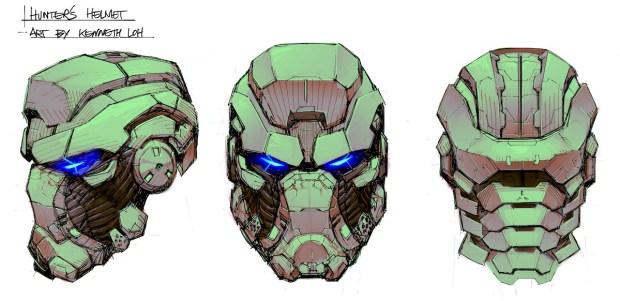 FIGURE 2-13: Hunter helmet concept art