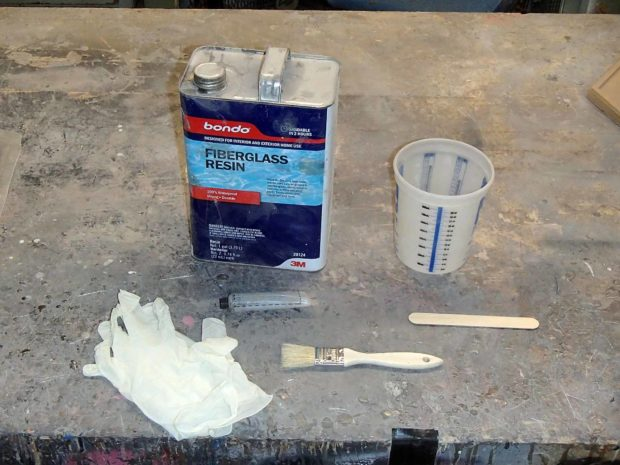 FIGURE 2-35: Tools for coating with fiberglass resin