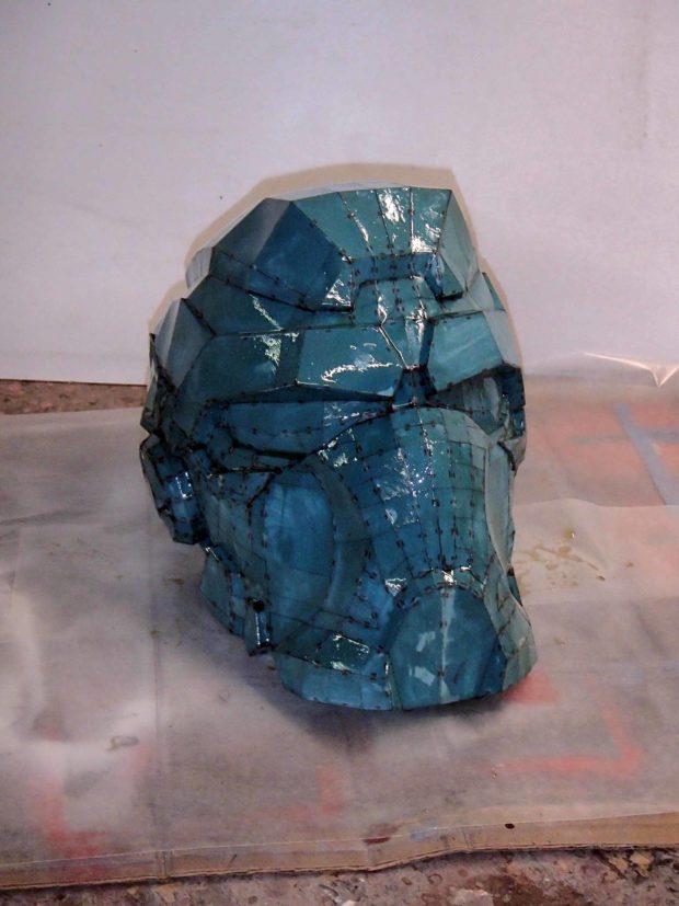 FIGURE 2-37: Shiny, resin-coated paper helmet