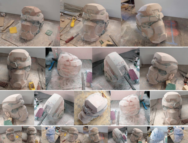 FIGURE 2-49: Filling and sanding and filling and sanding and filling and sanding and filling and sanding...