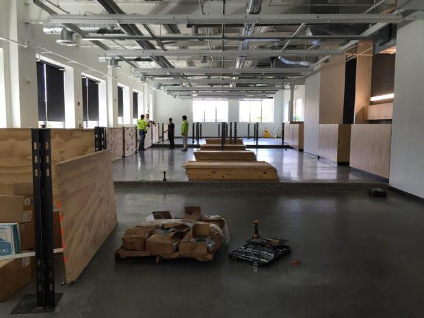 Micro-studios half set up. Photo by Will Holman