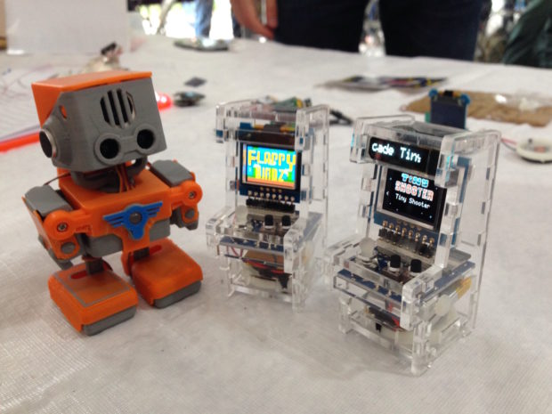 Tiny arcades from TinyCircuits in the Maker to Market tent. (12:20pm, DC Denison)