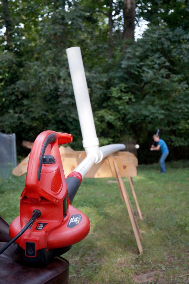 Pitch Wiffle Balls with a Leaf Blower and PVC | Make: