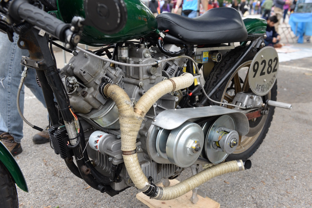 Look at the engine on this cycle! (Sunday, Mike Senese)