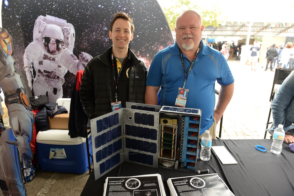 Seth Dennis and Bill Shaw are trying to get their cubesat to deep space. They're one of the finalists for the current NASA challenge to select three units to launch and deploy. Follow them on twitter @milespace. (Sunday, Mike Senese)