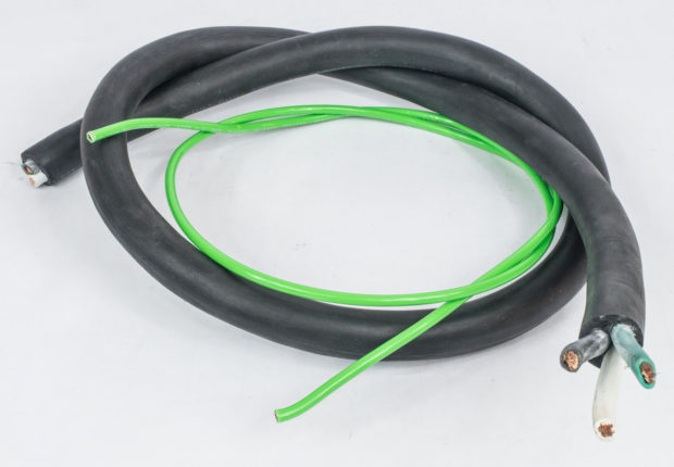 Figure 12 – 6/3 cable with added 8-gauge ground