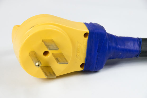 Figure 16 – Cable and plug wrapped in silicone tape