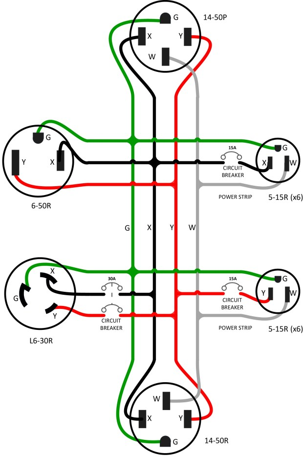Figure 3 – The wiring diagram for the adapter