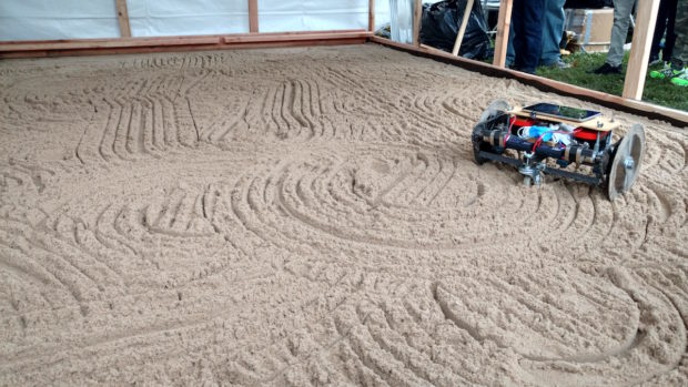 This Zen Gardener robot tends to your sand for you. Does having a robot rake your zen garden defeat the purpose of a zen garden? (11:52am, Sophia Smith)