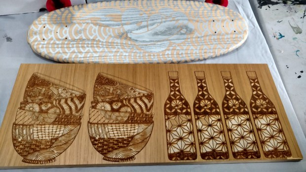 Jersey City Fab Lab shows off some beautifully patterned projects. (1:16pm, Sophia Smith)