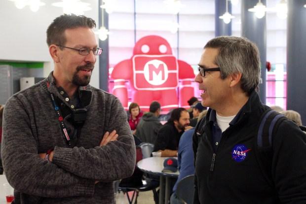 "Make: senior editor Caleb Craft talks to NASA's Sam Ortega and the launch of Dale Dougherty's new book ""Free to Make."" (Saturday 08:40, Alasdair Allan)"
