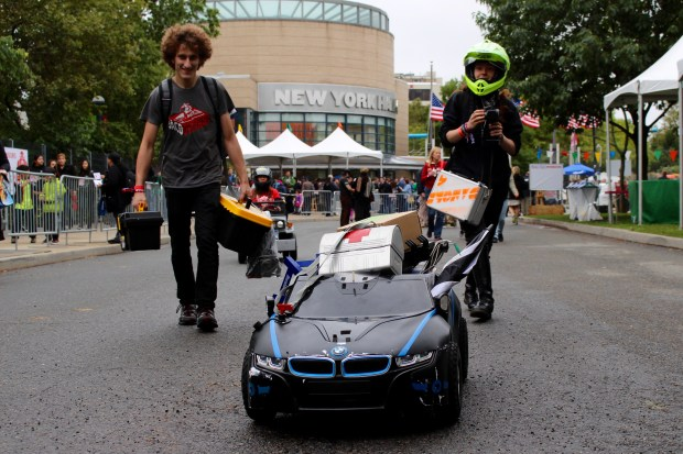 The new autonomous cars from the Power Racing Series. (Saturday 09:40, Alasdair Allan.