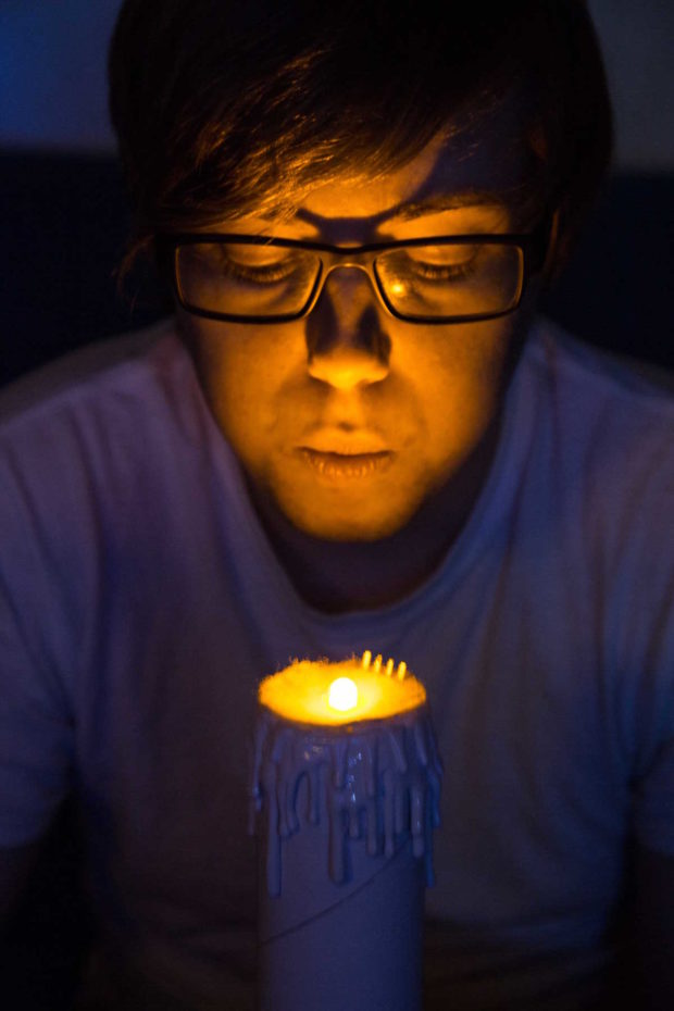 Make an LED Candle You Can Blow Out