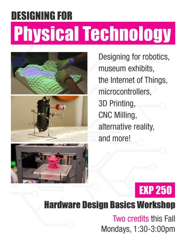 A flyer we distributed for the Physical Technology course
