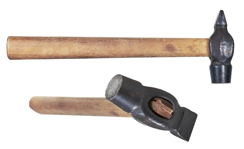 Figure 2. Two views of a cross-peen hammer.