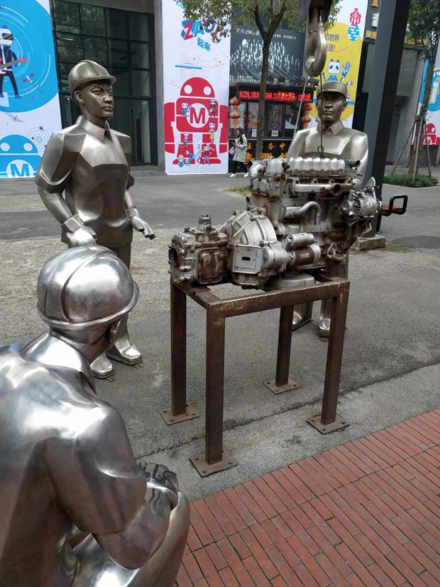 Maker Faire Chengdu took place in December 2016 at the site of a former factory.