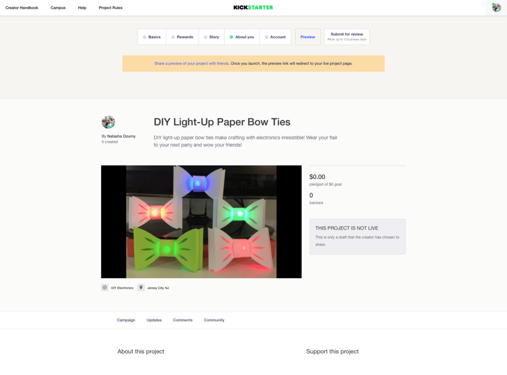 Kickstarter Started!