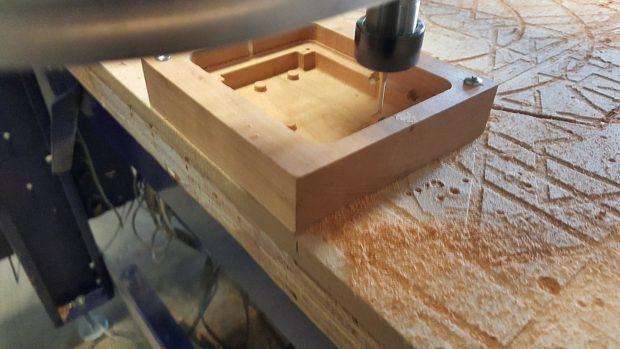 ShopBot cutting final lid interior: