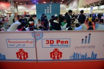 Youth in the 3D pen workshop.