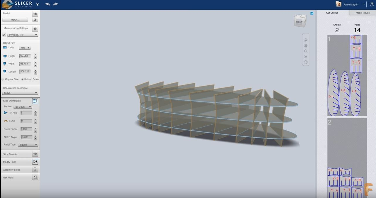 """Fusion 360 Adds """"Slicer"""" for Laser Cutting and CNC Routing"""