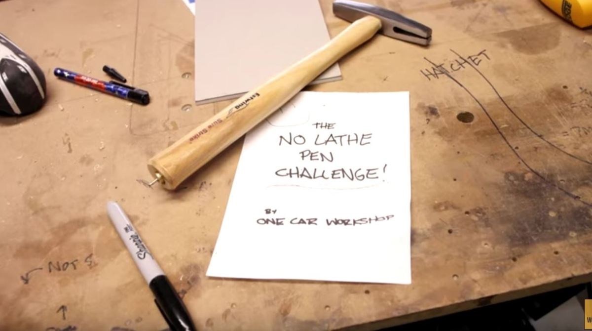 "The ""No Lathe"" Pen Challenge Makes You Think Creatively"
