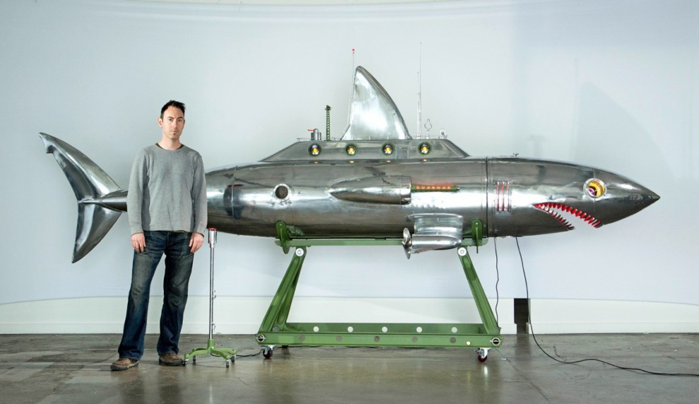 Watch the Tiny Moving Scenes in This Shark Submarine Sculpture