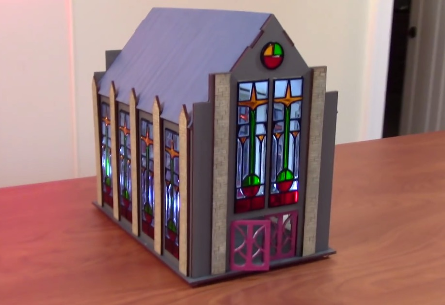 Designing a Stained Glass Cathedral for Miniature Gaming