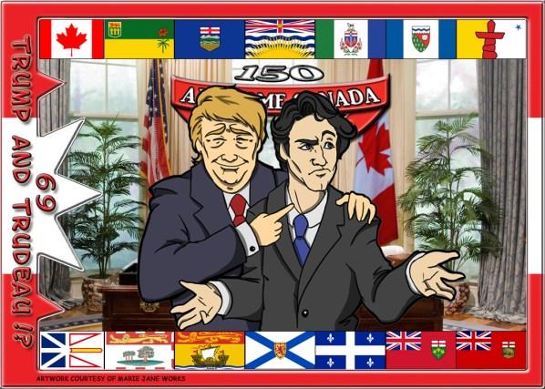 Trump and Trudeau card