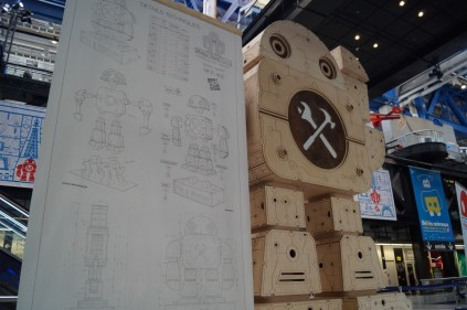 At the entry there's this giant robot. The instructions that go with it are wonderful