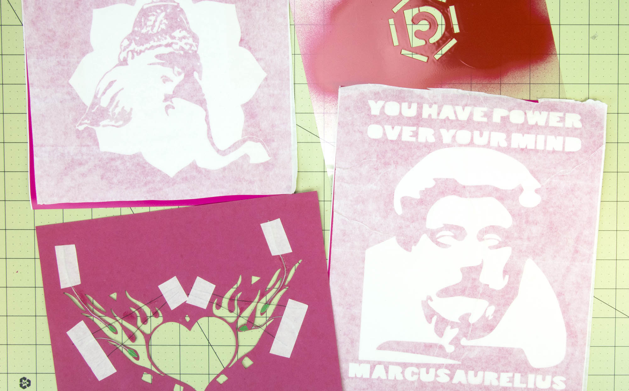 How to make a stencil with cricut expression