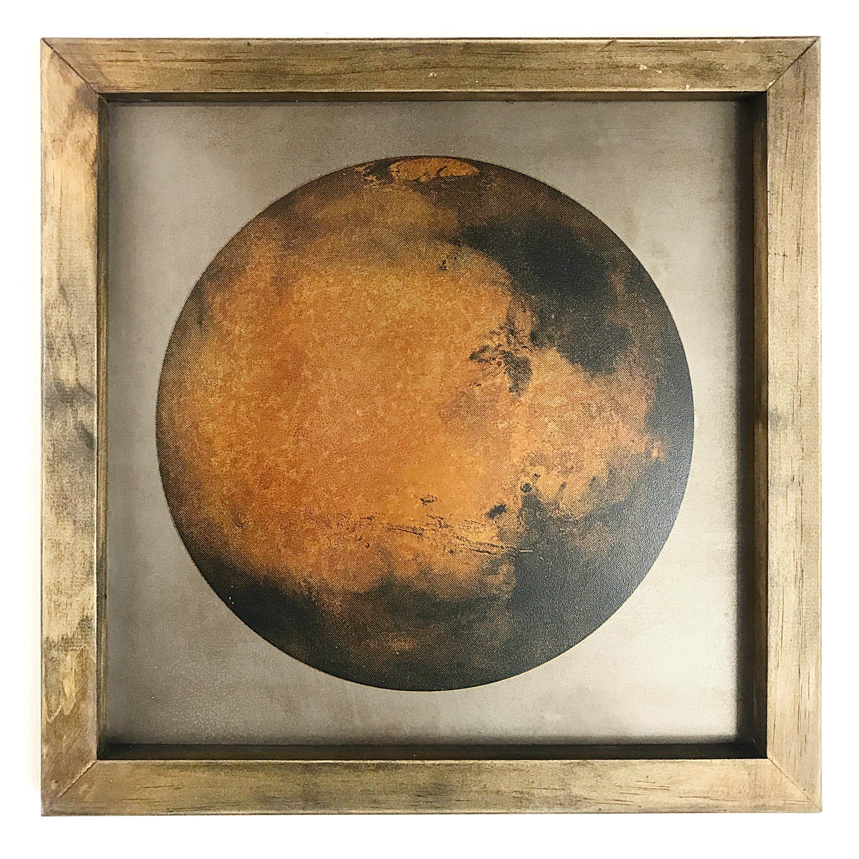 Creating an Image of Mars with Sheets of Rusted Metal