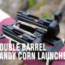 Double-Barrel 3D Printed Candy Corn Wrist Shooter