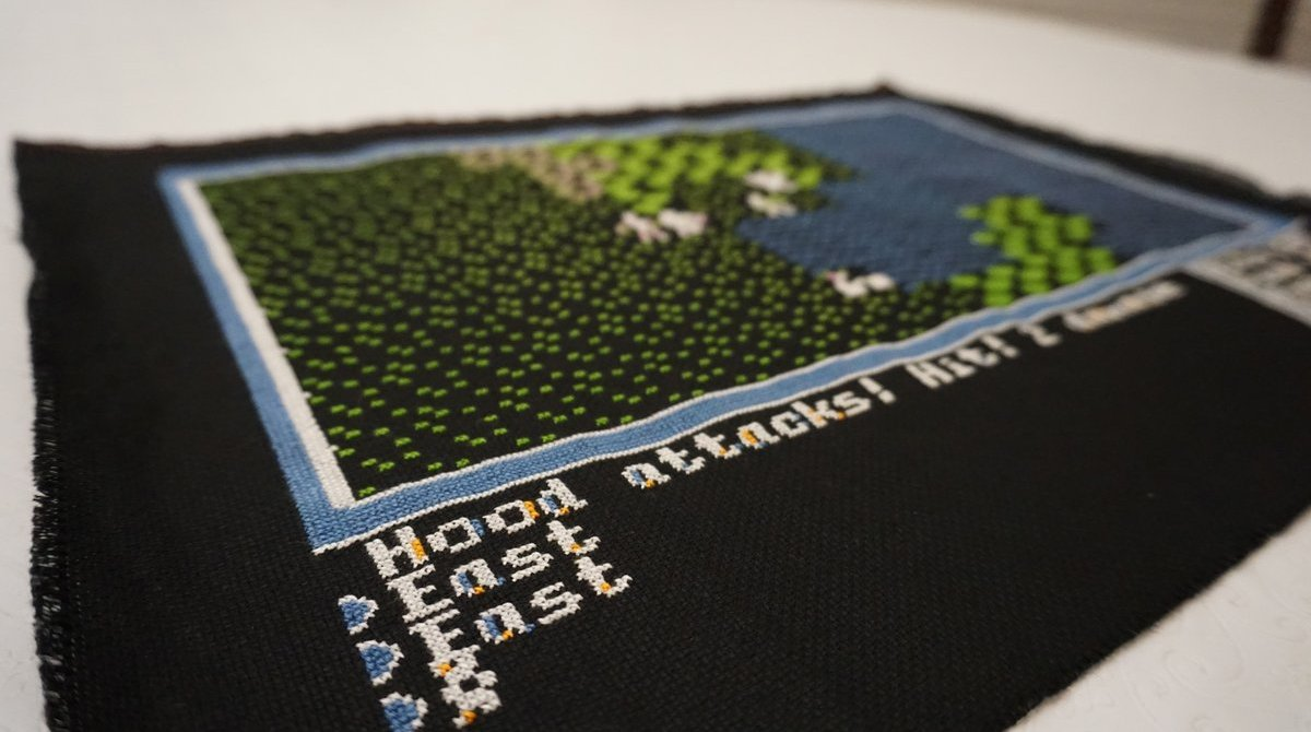 This Cross Stitch Is the Ultimate Ultima Homage | Make: